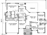 Single Storey Home Floor Plans Elegant One Story Home 6994 4 Bedrooms and 2 5 Baths