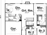 Single Storey Home Floor Plans Simple Single Story Home Plan 62492dj Architectural