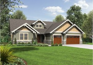 Single Story Craftsman Home Plans House Plan the Lincoln Craftsman House Plans