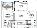 Single Story Home Plans with Two Master Suites House Plans with Two Master Suites On One Level