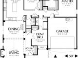 Single Story House Plans with 3 Car Garage Single Story Cottage Plan with Two Car Garage 69117am