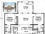 Single Story House Plans with Two Master Suites Two Master Suites Ranch Plans Pinterest