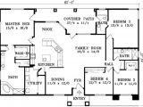 Single Story House Plans without Garage Adobe southwestern Style House Plan 4 Beds 3 00 Baths