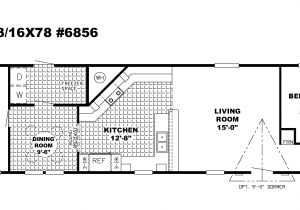 Single Wide Mobile Home Floor Plans 1 Bedroom Single Wide Mobile Homes Floor Plans Candresses