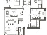 Sketch Plan for 2 Bedroom House Architectural Sketch Plan Of Three Bedroom Apartment Stock