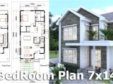 Sketchup Home Plans Sketchup Modeling Home Plan 7x14m Youtube