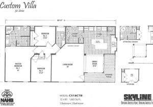 Skyline Mobile Home Floor Plans Custom Villa C518ctb by Skyline Homes