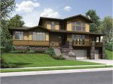 Sloped Lot Home Plans Craftsman Styled Sloped Lot House Plan the Renicker