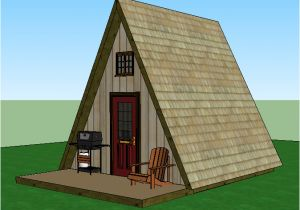 Small A Frame Home Plans A Frame Tiny House Plans Jeffrey the Natural Builder