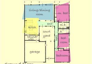 Small Courtyard Home Plans Small House Plans with Interior Courtyard Home Deco Plans