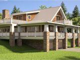 Small Hillside Home Plans Hillside House Plans with Walkout Basement Hillside House