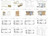 Small Home Building Plans Tiny House On Wheels Floor Plans Blueprint for Construction