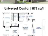 Small Modern Home Floor Plans Universal Casita House Plan 61custom Contemporary