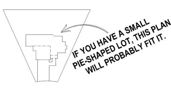 Small Pie Shaped Lot House Plans Sullivan Home Plans Perfect House for tough Pie Shaped Lot