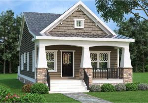 Small Single Story House Plans with Garage 2 Bed Bungalow House Plan with Vaulted Family Room