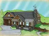 Small Single Story House Plans with Garage Small Single Story House Plan Fireside Cottage
