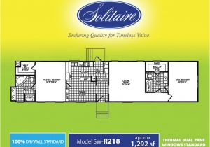 Solitaire Modular Homes Floor Plans solitaire Homes Single Wide Floor Plans Floor Matttroy
