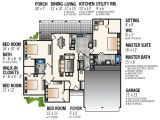 Space Efficient Home Plans Space Saving Design 55111br 1st Floor Master Suite