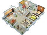 Spacious 3 Bedroom House Plans 25 More 3 Bedroom 3d Floor Plans