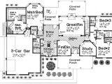 Spacious 3 Bedroom House Plans 3 Bedroom Home Plan with Large Bonus Room 48318fm
