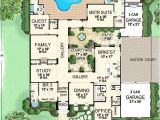 Spanish Home Plans Center Courtyard Pool Center Courtyard House Plans Tuscan Luxury