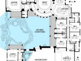 Spanish Home Plans Center Courtyard Pool Courtyard House Plan with Casita 16313md Architectural