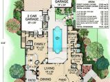 Spanish Home Plans Center Courtyard Pool Courtyards Courtyard House and Courtyard House Plans On
