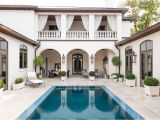 Spanish Home Plans Center Courtyard Pool Modern Moroccan Riad In River Oaks Katy Lifestyles