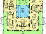Spanish Home Plans Center Courtyard Pool Open Courtyard House Floorplan southwest Florida