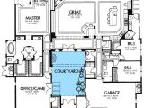 Spanish House Plans with Inner Courtyard Rear Courtyard House Plans Plan W16359md Mediterranean