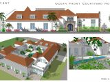 Spanish Style Homes with Courtyards Plans Spanish Style Courtyard Homes Cocoa Beach Florida