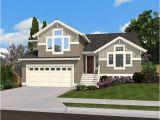 Split Level Homes Plans Split Level Home Plan for Narrow Lot 23444jd