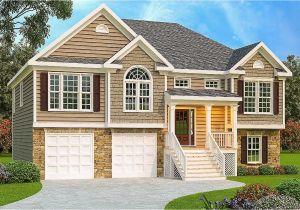 Split Plan Home 3 Bed Split Level House Plan 75430gb Architectural