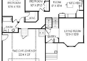 Split Plan Home Split Foyer House Plans House Plan W3490 Detail From