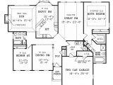 Split Ranch Home Plans Split Bedroom Ranch for Modest Lot 3858ja