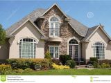 Stone and Stucco House Plans Stucco Stone House Pretty Windows Royalty Free Stock Image