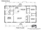 Strongwood Log Homes Floor Plans Springfield Floor Plan First Floor Strongwood Log