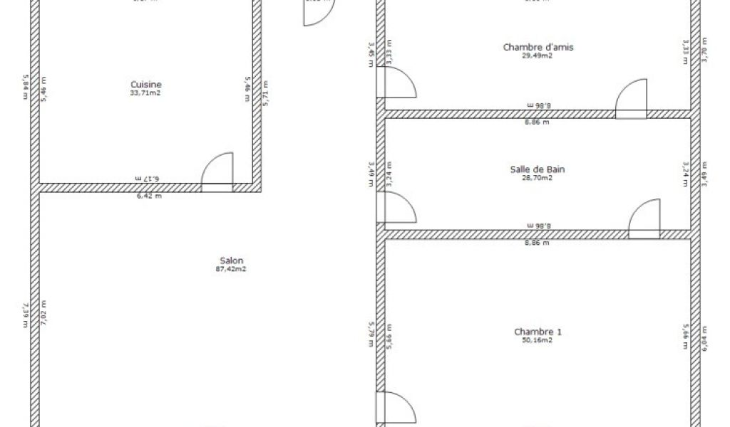 Sweet Home Plan Maison De Sweet Home 3d Plan 5 Pieces 229 M2