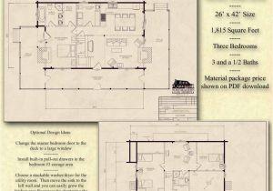 The Log Home Plan Book Pdf Basement Plan Not Shown On the Sidebar