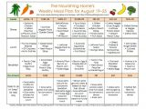The Nourishing Home Meal Plan Meal Plan Monday August 19 September 1 the Nourishing