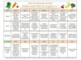 The Nourishing Home Meal Plan Meal Plan Monday August 5 18 the Nourishing Home