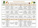 The Nourishing Home Meal Plan Meal Plan Monday November 26 December 9 Leftover