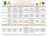 The Nourishing Home Meal Plan Meal Plan Monday September 16 29 the Nourishing Home