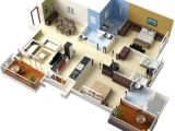 Three Bedroom Home Plan 3 Bedroom Apartment House Plans