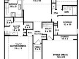 Three Bedrooms House Plans with Photos 3 Bedroom House Plans One Story Marceladick Com