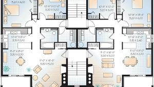 Three Family Home Plans Multi Family Plan 64952 at Familyhomeplans Com