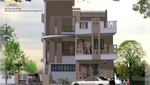 Three Story Home Plans 3 Story House Plan and Elevation 2670 Sq Ft Kerala