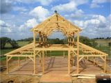 Timber Frame Barn Home Plans Equipment Barn In Tx with Hemlock Frame and Curved Braces