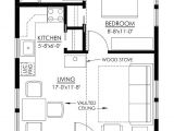 Tiny Home Plan Small Cottage Floor Plan A Interior Design