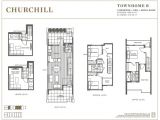 Town Home Floor Plans Churchill townhomes 3 4 Bedroom townhomes In south